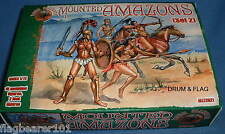 DARK ALLIANCE #72021. MOUNTED AMAZONS (SET 2). 1/72 SCALE FIGURES