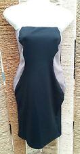 NEXT BNWT Ladies Black & Taupe Bandeau Strapless Dress Size 10 RRP ££28