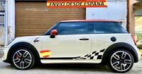 Kit Laterales Vinilos Adhesivas Decal Stickers Mini Cooper S One John Works