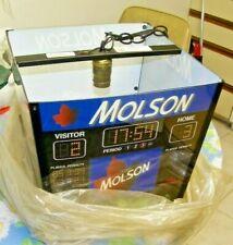 Vintage NHL Toronto Maple Leaf's MOLSON Scoreboard  Hanging  BEER Lamp Light
