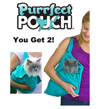 2 PACK Purrfect Pouch Comfy Cat Carrier Grooming Sack As Seen on TV