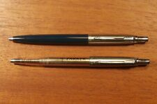 """Vintage """"PARKER"""" Pair of """"HER'S"""" Pens *CLEAR* & Navy Blue RARE COLLECTIBLES!"""