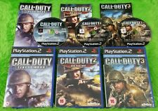 ps2 CALL OF DUTY x3 Games 1 + 2 + 3 TRILOGY Finest Hour + Big Red One + 3 PAL UK