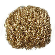 1pc Soldering Solder Iron Tip Cleaner Brass Cleaning Wire Sponge Ball Gold New
