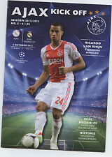 Orig.PRG  Champions League 12/13  AJAX AMSTERDAM - REAL MADRID CF  !!  RARE