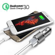 Qualcomm QC3.0 Certified Quick Charge Dual 2 USB Port QC3.0 Fast Car Charger 30W