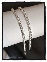 Chaîne Maille corde 45cm En Argent Massif 925/1000 Poinçonné  Bijoux Femme