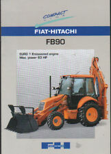 "Fiat-Hitachi ""FB90"" Tractor Backhoe Loader Brochure Leaflet"
