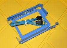 New listing Dell Blue Hard Drive Caddy & sata cable Yj221, H7283, Rh991, U6436 or J7283