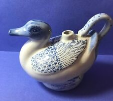 Made in China - Blue and white porcelain duck teapot - missing lid