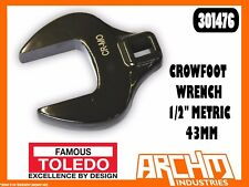 """TOLEDO 301476 - CROWFOOT WRENCH 1/2"""" METRIC - 43MM -  STRAIGHT JAW SQUARE DRIVE"""