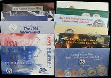 1990 - 1999 UNITED STATES MINT SETS 10 YEAR RUN BULK LISTING