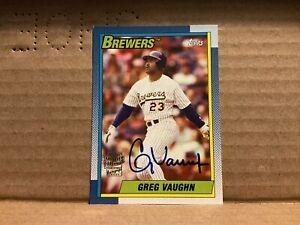 2014 Topps Archives Fan Favorites Autographs #FFAGV Greg Vaughn Auto