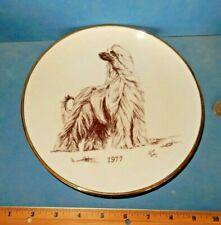 Afghan Hound Dog Collector Plate Mint Rare Laurelwood 1977