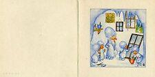 Antique Rare Ida Bohatta: Icemen: Family Painting Window: Greeting Card 7275