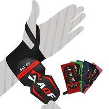 "AQF 18"" Power Weight Lifting Wrist Wraps Supports Gym Training Fist Straps AU"