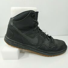 Nike Air Force One Mens High Top Sz US 11 EU 45 Black Sneakers 807242-009