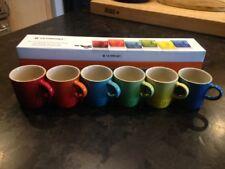 Le Creuset Stoneware Espresso Mugs, Set of 6, Rainbow Assortment Color