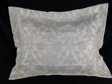 One (1) Options Beige Floral Standard Pillow Sham Raised Embroidery Heavy Fabric
