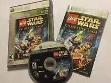 NTSC XBOX 360 GIOCO LEGO STAR WARS LA SAGA COMPLETA + BOX & Istruzioni Complete