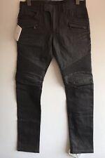 Balmain slim-fit clean waxed crayon gris motard jeans taille 32 rrp £ 720