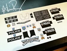 Transformer Diaclone Police Reproduction Stickers