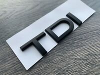 AUDI TDI MATT BLACK BADGE LETTERING A1 A3 A4 A5 A6 A7 S LINE BLACK EDITION