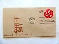 """August 6th, 1976 Bicentennial Era """"The American Craftsman"""" First Day Issue"""