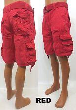 Men's JORDAN CRAIG red army green light grey utility cargo shorts style 4350