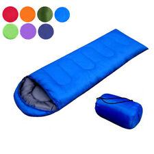 PP Camping Envelope Sleeping Bag Outdoor Thermal Hiking Tent Waterproof w/ Case
