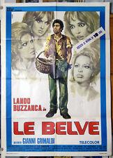 manifesto 2F film LE BELVE Lando Buzzanca Femi Benussi Ira Furstenberg