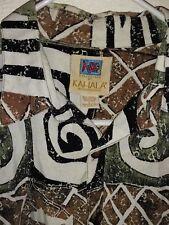 "Kahala AVI © 50% Rayon 25% Cotton 25% Linen Camp Shirt ~ L  25.5"" P2P ~ EUC"