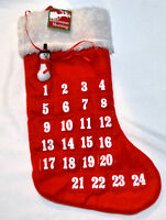 Christmas Stocking with Snowman and Numbers 1 to 24