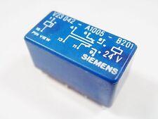 Relé 24V 2xUM 25V 2A 120V 1A Siemens V23042-A1005-B201 Oro #11R94A