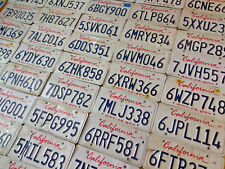 15 Craft Grade California License Plates