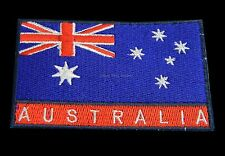 Australian Souvenir Iron Sew Stitch on Embroider Australia Flag Patch Badge Ep02