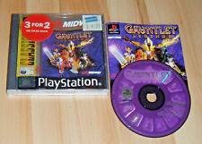 PS1 Playstation 1 Pal Game GAUNTLET LEGENDS with Box Instructions