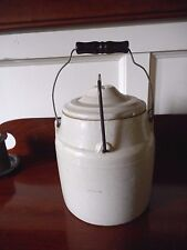 Western Stoneware Co Crock #5 Weir Seal Monmouth Illinois 150-52 w Lid & handle