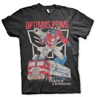 Optimus Prime Poster Autobots Crest Official Transformers Black Mens T-shirt