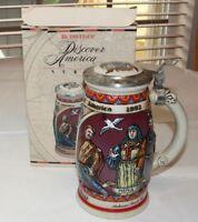 Budweiser Discover America Series Nina Beer Stein 1989 Anheuser Busch COA ~