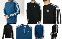 Adidas Original Men's Trefoil 3 Stripes Sweatshirt Jumper DV1554 & DV1555