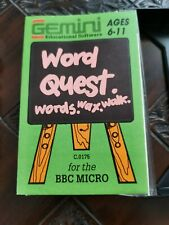 GEMINI WORD QUEST UBER RARE BBC MICRO EDUCATIONAL GAME *SEE DEALS*
