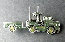 US ARMY M-151 JEEP LUV MILITARY VEHICLE WITH TRAILER LAPEL PIN 1.1 INCHES