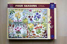 Four Seasons flowers 750 irregular shaped piece jigsaw puzzle