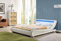 LED Bett SEOUL Doppelbett Polsterbett Lattenrost Kunstleder Bettgestell