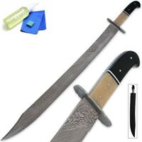 Arabian Damascus Steel Hand Forged Smith Made Crafted Scimitar Sword Saber Sharp