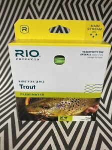 RIO MAINSTREAM TROUT NEW DT-4-F #4 WEIGHT DOUBLE TAPER FLOATING FLY FISHING LINE