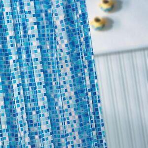 MODERN WATERPROOF PEVA BATHROOM SHOWER CURTAIN STANDARD / EXTRA LONG WITH HOOKS