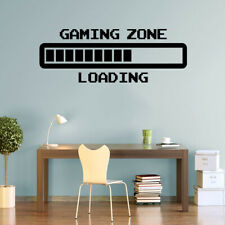Arcade Gaming Zone Retro Loading Wall Art Stickers Gamer Vinyl Decals Decor