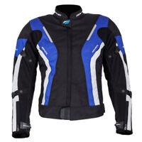 SPADA LADIES CURVE WP BLACK BLUE WATERPROOF MOTORCYCLE MOTORBIKE BIKER JACKET